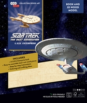 Incredibuilds Star Trek the Next Generation U.S.S. Enterprise Book And 3D Wood Model