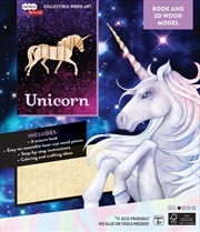 Incredibuilds Unicorn Book And 3D Wood Model