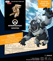 Incredibuilds Overwatch Winston 3D Wood Model And Poster