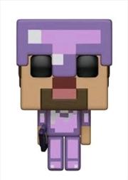 Minecraft - Steve in Enchanted Armor | Pop Vinyl