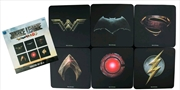 Justice League Movie - Full Team Logo Coaster Set of 6