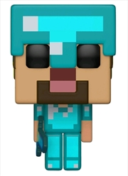 Minecraft - Steve in Diamond Armor | Pop Vinyl
