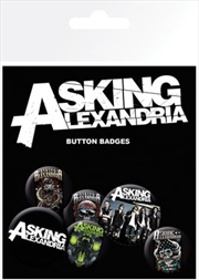 Asking Alexandria Badge 6 Pack