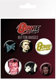 David Bowie Mix Badge 6 Pack
