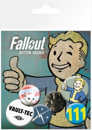 Fallout 4 Mix 1 Badge 6 Pack