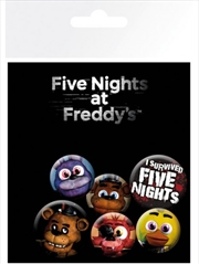 Five Nights at Freddy's Badge 6 Pack