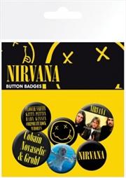 Nirvana Badge 6 Pack | Merchandise