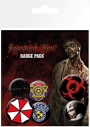 Resident Evil Mix Badge 6 Pack