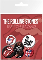 The Rolling Stones Lips Badge 6 Pack