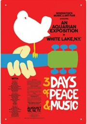 Woodstock Tin Sign | Merchandise
