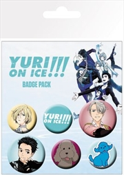 Yuri On Ice Badge 6 Pack