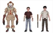 It (2017) - Pennywise, Richie & Eddie Action Figure 3-pack