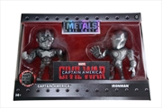 "Captain America 3: Civil War - Iron Man & Captain America US Exclusive 4"" Bare Metal 2 Pk 