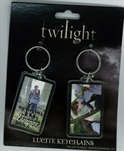 Twilight - Lucite Keychain 2-Pack Set 5 Ed and Bella Forest | Accessories