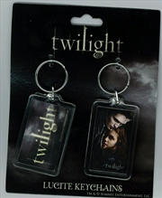 Twilight - Lucite Keychain 2-Pack Set 6 Logo and One Sheet | Accessories