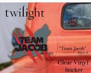 Twilight - Sticker Clear Vinyl Team Jacob | Merchandise