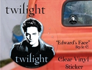 Twilight - Sticker Clear Vinyl Style C Edward | Merchandise