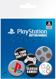 Playstation Classic Badge - 6 Pack
