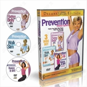 Prevention Fitness - Pilates Abs And Core + Dance Cardio + Walk And Burn Fat - Deluxe 3 DVD | DVD
