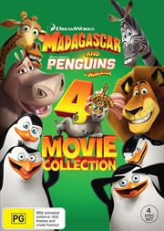 Madagascar 1-3/Penguins Of Madagascar - 4 Movie Collection | DVD