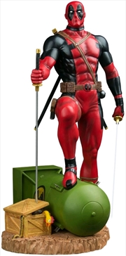 Deadpool - Deadpool on Atom Bomb 1:6 Scale Statue