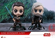 Star Wars - Luke Skywalker & Rey Episode VIII The Last Jedi Cosbaby Set | Merchandise