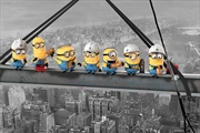 Minions - Despicable Me Lunch On A Skyscraper