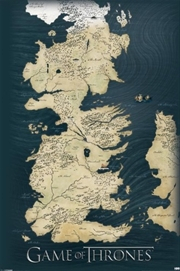 Game of Thrones - Map Of Westeros