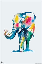 Matteo - Elephant Watercolour