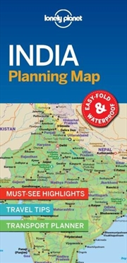 Lonely Planet - India Planning Map | Sheet Map