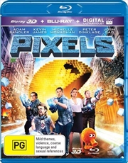 Pixels | 3D + 2D Blu-ray + UV
