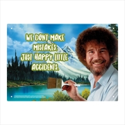 Bob Ross - Happy Little Accidents Tin Sign | Accessories