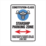Star Trek Star Ship Parking Tin Sign | Accessories
