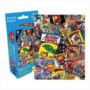 DC Comics Superman Retro Collage 100pcs Pocket Puzzle