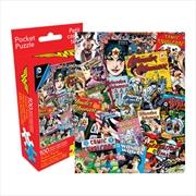 DC Comics Wonderwoman Retro Collage 100pc Pocket Puzzle