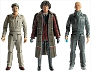 Doctor Who - Fourth Doctor, Brigadier Lethbridge-Stewart & Auton Action Figure 3-pack