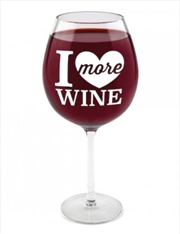 BigMouth I Love More Wine Gigantic Wine Glass | Miscellaneous