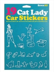 GAMAGO Cat Lady Car Stickers | Miscellaneous