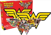 Wonder Woman Logo & Collage Double Sided 600 Piece Puzzle | Merchandise