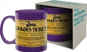 Willy Wonka Golden Ticket Ceramic Mug | Merchandise