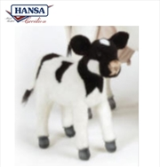 Calf Black And White 35cm