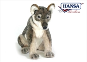Sitting Wolf Pup 30cm | Toy