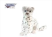 Snow Leopard Sitting 27cm