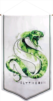 Harry Potter - Slytherin Watercolour Satin Banner