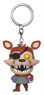 Five Nights at Freddy's: Pizza Sim - Rockstar Foxy Pocket Pop! Keychain