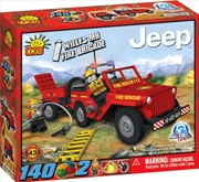 Action Town - 140 Piece Willys MB Jeep Fire Brigade Construction Set | Miscellaneous