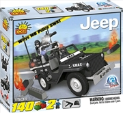 Action Town - 140 Piece Willys MB Jeep Police SWAT Car Construction Set | Miscellaneous