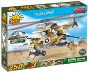 Small Army - 250 Piece Desert Hawk Military Helicopter Construction Set | Miscellaneous