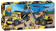 Action Town - 500 Piece Construction Dumper and Digger Construction Set | Miscellaneous