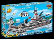 Small Army - 700 Piece Battleship Cruiser in Harbour Construction Set